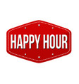 happy hour label or sticker vector image vector image