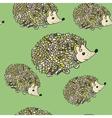 Hedgehog seamless pattern vector image vector image