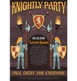 Heraldic Knight Poster vector image vector image