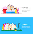 house cleaning service and housework banner design vector image vector image