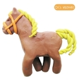Icon of plasticine toy horse vector image vector image