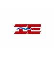 iE company logo vector image vector image
