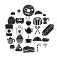 ingestion icons set simple style vector image vector image