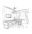 Interior sketch vector image