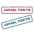 Japan Tokyo Rubber Stamps vector image