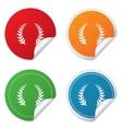Laurel Wreath sign icon Triumph symbol vector image