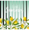 Lemon Floral Background Summer Background Fruits vector image vector image