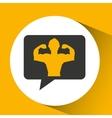 man body builder sport emblem laurel branch vector image vector image