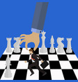 management concept boss moving an employee vector image vector image
