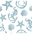 marine seamless patterns vector image vector image