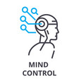 mind control thin line icon sign symbol vector image vector image