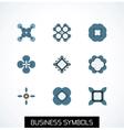 Minimal flat geometric business symbols Icon set vector image