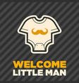 newborn cloth baby boy shower greeting card vector image vector image