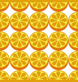 orange fruit seamless white pattern vector image vector image
