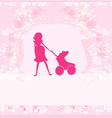 pregnant woman - silhouette vector image vector image