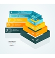 Pyramid chart for infographics design vector image vector image