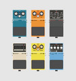 realistic guitar effects pedal and stomp boxes vector image vector image