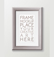 realistic vertical gray wood frame template frame vector image