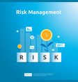 risk management and financial identifying vector image