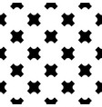 seamless pattern black crosses vector image vector image