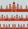 Seamless pattern With Castle princess fairytale vector image