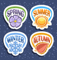 set for four seasons vector image
