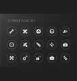 set of 15 editable mechanic icons includes vector image