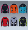 set of fitness womens jackets vector image