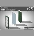 set of modern isometric street billboards vector image