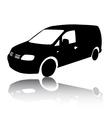 Silhouette of black Van car vector image vector image
