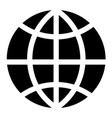 simple world globe icon vector image