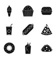 snacks icon set simple style vector image