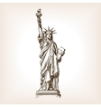 Statue of Liberty hand drawn sketch style vector image vector image