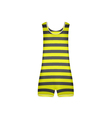 Striped retro swimsuit in yellow and black design vector image vector image