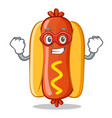 super hero hot dog cartoon character vector image