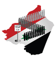 Syrian Migration vector image