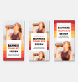 templates for vertical web banners with place for vector image vector image