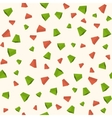 Triangle 3d objects seamless geometric pattern vector image