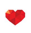 triangular heart love symbol vector image vector image