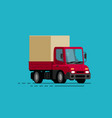 truck delivery moving transport trucking vector image vector image