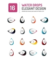 water elegant symbol set vector image