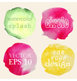Watercolor hand painted circles vector image vector image