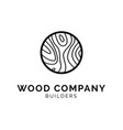 wood texture logo concept creative minimal design vector image vector image