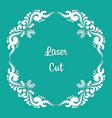 square laser cut floral ornament vector image