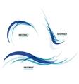 Set of flowing blue wave lines vector image
