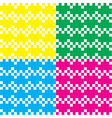 Heart pixel pattern colorful vector image