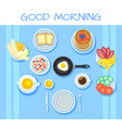 colorful breakfast table concept vector image