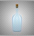 glass bottle on white background vector image