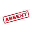 Absent Text Rubber Stamp vector image vector image