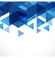 abstract blue geometric modern template vector image vector image